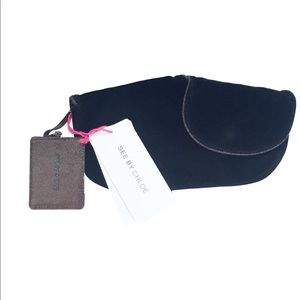 Authentic Chloe velvet clutch evening handbag